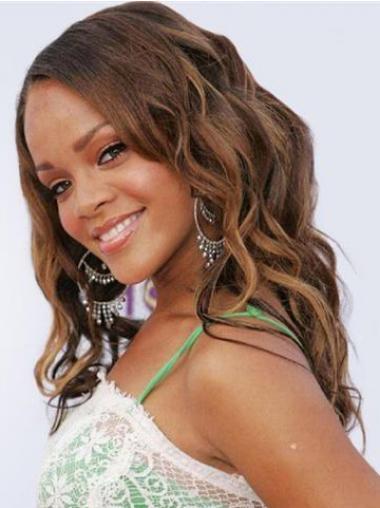 "Parrucche Rihanna 18"" nuovo Castano Lungo"