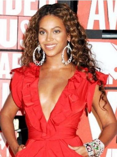 """Parrucche Beyonce Castano 20"""" flessibilità Riccia"""