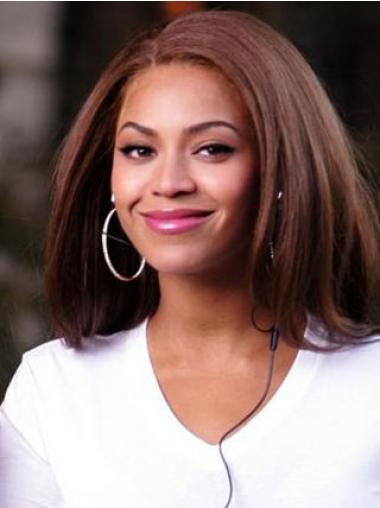 """Parrucche Beyonce Castano Dorato 14"""" sfarzoso Liscia"""