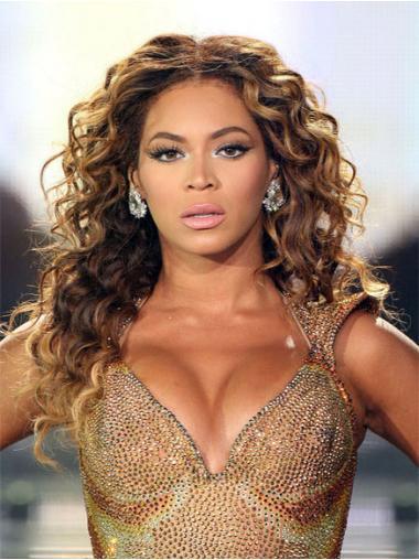 """Parrucche Beyonce Castano 20"""" sconto Riccia"""