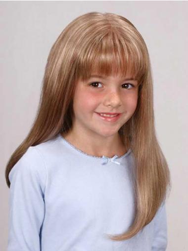 """Parrucche Bambini Biondo 14"""" popolare Liscia"""