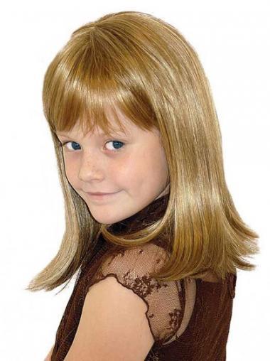 "Parrucche Bambini Biondo 14"" Liscia"