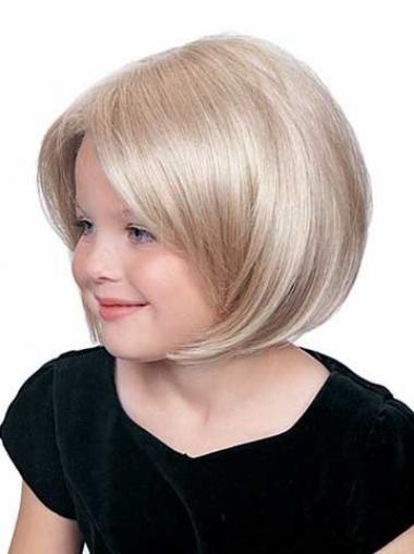 "Parrucche Bambini Biondo 8"" moderno Liscia"