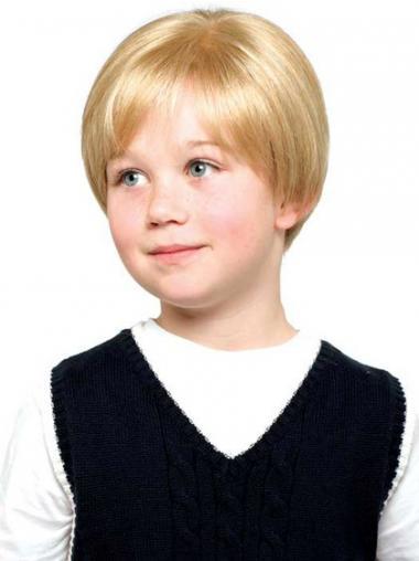 "Parrucche Bambini Biondo 6"" morbido Liscia"