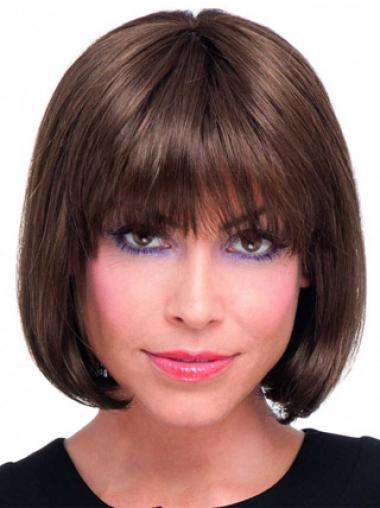 Parrucca Caschetto 100% capelli naturali favoloso Liscia