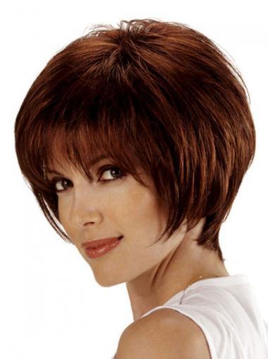 Parrucca Caschetto 100% capelli naturali In linea Liscia