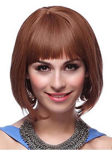 Parrucca Caschetto 100% capelli naturali moderno Liscia