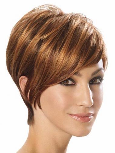Parrucche Corte Sintetici Liscia In linea