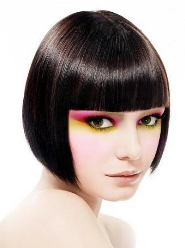 Parrucca Caschetto 100% capelli naturali flessibilità Liscia