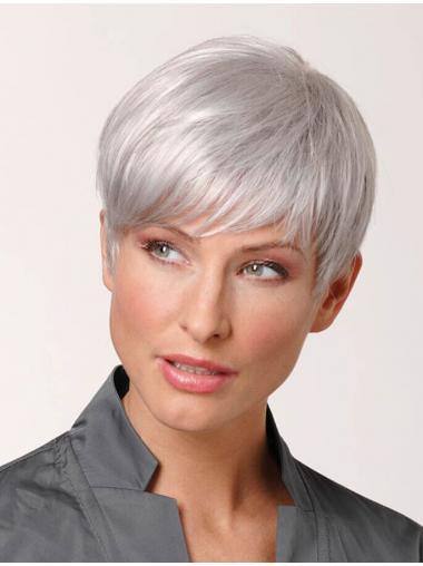 Parrucche Bello Cropped Liscia Bianco Nuovo