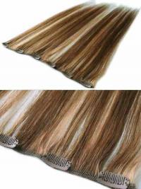 Extension Clip-In Alta qualità Castano 100% capelli naturali