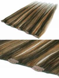 Extension Clip-In Superiore Castano 100% capelli naturali