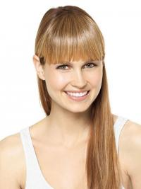 Frangia Clip-in elegante Biondo 100% capelli naturali