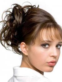 Chignon Alta qualità Castano 100% capelli naturali