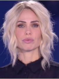 "Parrucca Ilary Blasi Mossa Biondo Sintetici 12"""