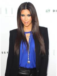 Parrucche Kim Kardashian Lungo Liscia Macchina flessibilità