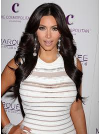 Parrucche Kim Kardashian Lungo Mossa Macchina naturale