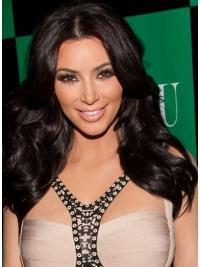 Parrucche Kim Kardashian Lungo Mossa Macchina Alta qualità