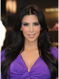 Parrucche Kim Kardashian Lungo Liscia Macchina stupefacente