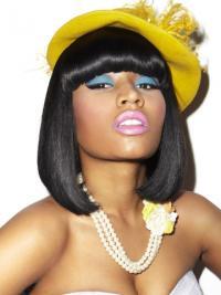"""Parrucche Nicki Minaj elegante 11"""" Macchina Liscia"""