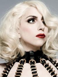 """Parrucche Lady Gaga conveniente 14"""" Stratificato Riccia"""