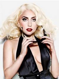 """Parrucche Lady Gaga moda 16"""" Stratificato Riccia"""