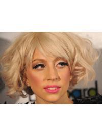 """Parrucche Lady Gaga squisito 11"""" Con Frangia Riccia"""