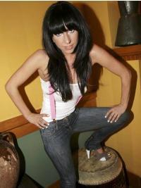 "Parrucche Lady Gaga 20"" Con Frangia Liscia"