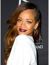 "Parrucche Rihanna 26"" Superiore Castano Lungo"
