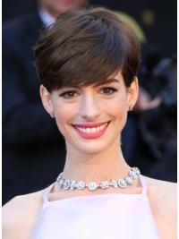 "Parrucche Anne Hathaway Castano 6"" Di tendenza Liscia"