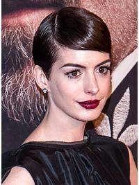 """Parrucche Anne Hathaway Castano 4"""" progettato Liscia"""