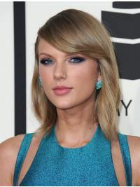 """Parrucche Taylor Swift 14"""" Alta qualità Biondo Liscia"""