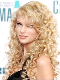 """Parrucche Taylor Swift 24"""" di moda Biondo Riccia"""