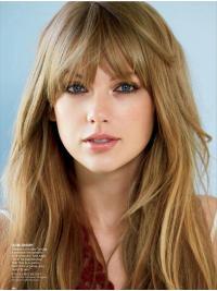 """Parrucche Taylor Swift 20"""" ideale Biondo Liscia"""