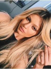 Parrucche Kylie Jenner Lungo Mossa Macchina di moda