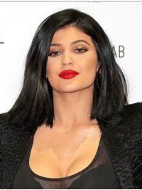 Parrucche Kylie Jenner Altezza di Spalle Liscia Full Lace morbido