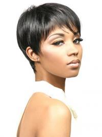 "Parrucche Afroamericano Liscia Macchina 6"" flessibilità"