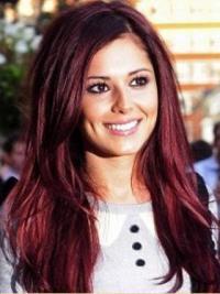 "Parrucche Cheryl Cole Rosso 24"" grande Liscia"
