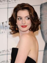 """Parrucche Anne Hathaway Castano Dorato 10"""" nuovo Mossa"""