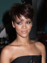 """Parrucche Rihanna 6"""" Alta qualità Castano Dorato Corto"""