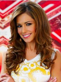 """Parrucche Cheryl Cole Castano 20"""" In linea Riccia"""