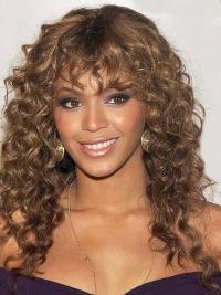 """Parrucche Beyonce Castano Dorato 20"""" nuovo Riccia"""